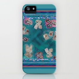 Surreal Lake Art and Poem iPhone Case