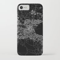 dublin iPhone & iPod Cases featuring Dublin map by Line Line Lines