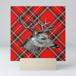 Christmas Reindeer Mini Art Print