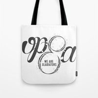 scandal Tote Bags featuring Scandal - Olivia Pope & Associates by leftyprints