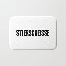 Stierscheisse   German Bullshit - Logotype Bath Mat