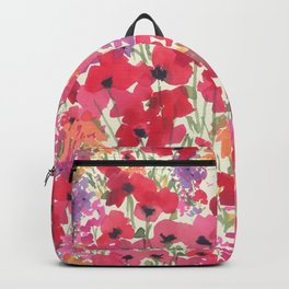 Big Red Poppy Patch Backpack