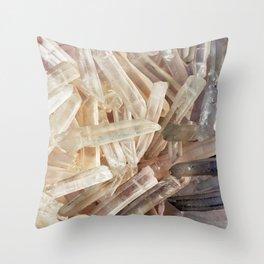 Sparkly Clear Magical Unicorn Crystal Shards Throw Pillow