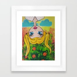 Garden Party Gal #2 Framed Art Print
