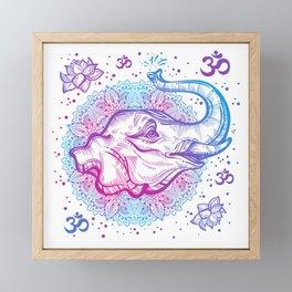 Spiritual Elephant Framed Mini Art Print