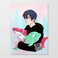 iwatobi Canvas Prints featuring plushies by JohannaTheMad