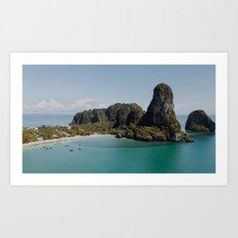Railay Beach And Mogot, Krabi Province, Thailand Art Print