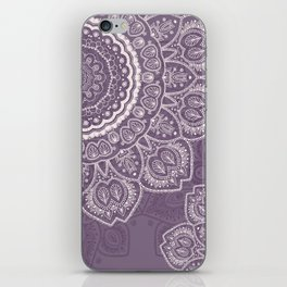 Mandala Tulips in Lavender ad Cream iPhone Skin