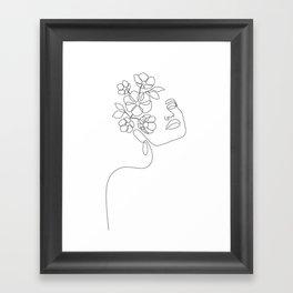 Dreamy Girl Bloom Framed Art Print