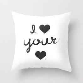 i heart your heart Throw Pillow