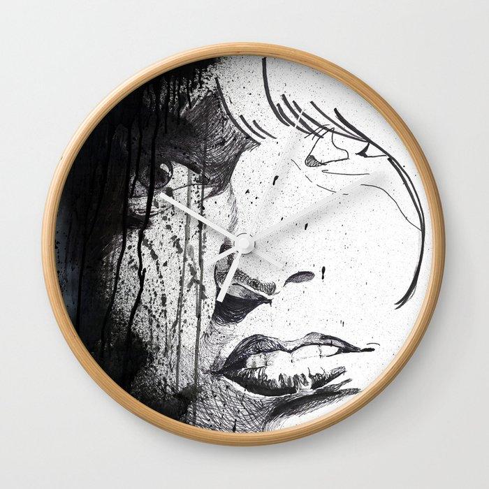 Splattered Portrait Wall Clock