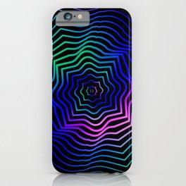 Hypnonotic geometric mandala iPhone Case