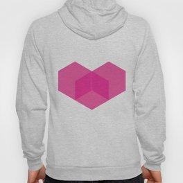 Love heart pink Hoody