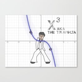 The math Travolta Canvas Print