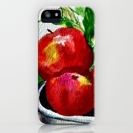 Life is Just a Bowl of Apples iPhone Case