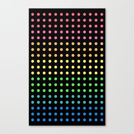 Sugar Dots (black) Canvas Print