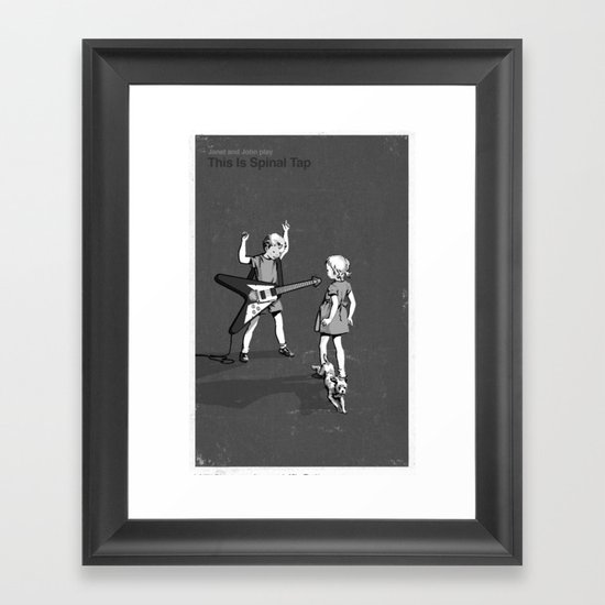 Janet And John Play This is Spinal Tap Framed Art Print