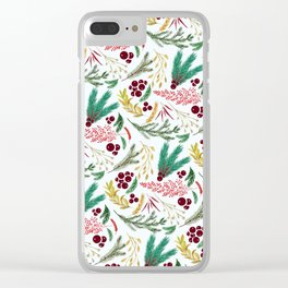 Christmas So Pine Clear iPhone Case