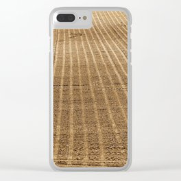 plowed agricultural field Clear iPhone Case