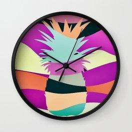 Sliced Abstract Ananas Wall Clock
