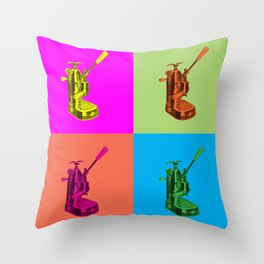 Pop Art La Pavoni Lever Espresso Machine Throw Pillow