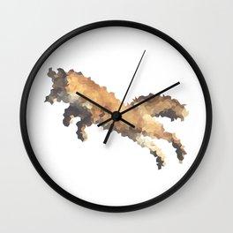 Penrose Tiling Fox  Wall Clock