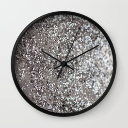 Sparkling SILVER Lady Glitter #1 #decor #art #society6 Wall Clock