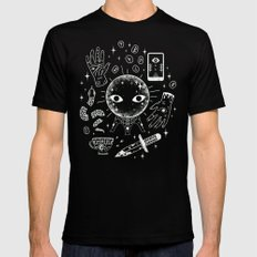 I See Your Future: Glow LARGE Black Mens Fitted Tee