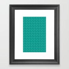 Green Dots Framed Art Print