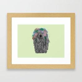 Dredlock Dog (Pastel Green Edition) Framed Art Print