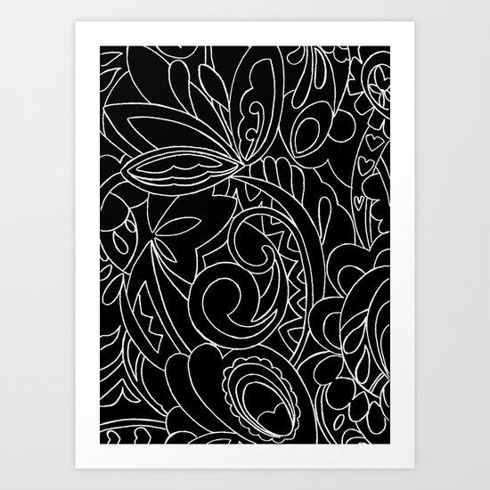 Nature black&white Art Print