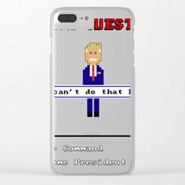 Trump Quest '16 Adventure Game T-Shirt - Retro Computer Game Clear iPhone Case