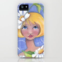 Whimiscal girl with Daisy's iPhone Case
