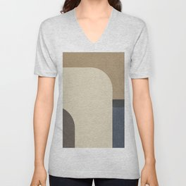 Vintage, contemporary art painting, geometric, abstract canvas for home decor, living room walls Unisex V-Neck