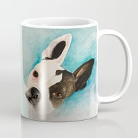 boston terrier Mugs featuring Boston Terrier  by MeggaChurch