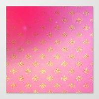 fleur de lis Canvas Prints featuring Fleur de Lis by Mr and Mrs Quirynen