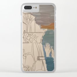 men at sea Clear iPhone Case