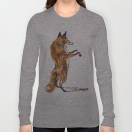 Christmas Fox Long Sleeve T-shirt
