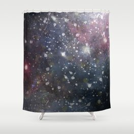 Splattered Stars Shower Curtain