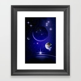 Fantastic yourney into space. Framed Art Print