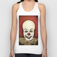 pennywise Tank Tops featuring It - Pennywise (Color Version) by Sinpiggyhead