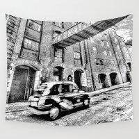 dark side Wall Tapestries featuring Dark side London Art by David Pyatt