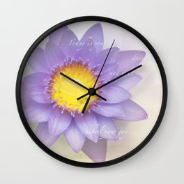 Dance Lightly with Life Wall Clock