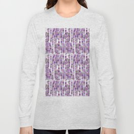 violet garden checkerboard pattern Long Sleeve T-shirt