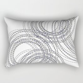 Abstract Stitched Circles Rectangular Pillow