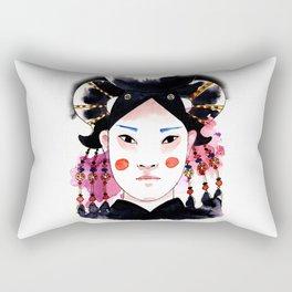 Genghis' Daughter Rectangular Pillow