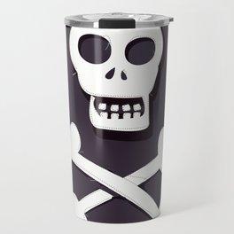 Pirate Skull and crossbones flag Travel Mug