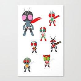 Seven Legendary Riders Canvas Print