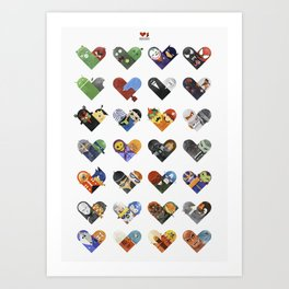 Versus Hearts Series 1 Art Print