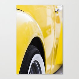 Yellow old car Canvas Print